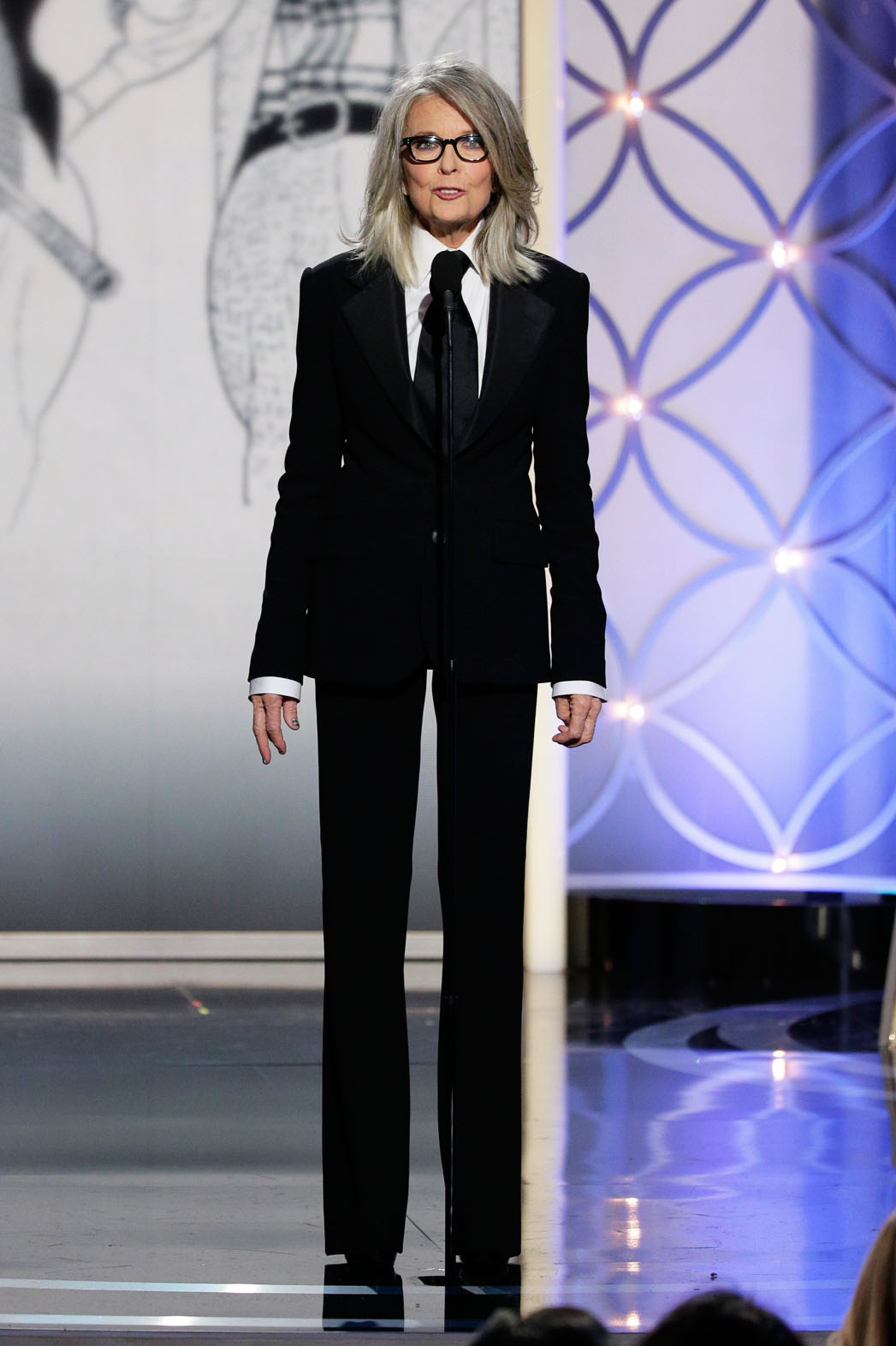 Diane Keaton on Stage Golden Globes - P 2014