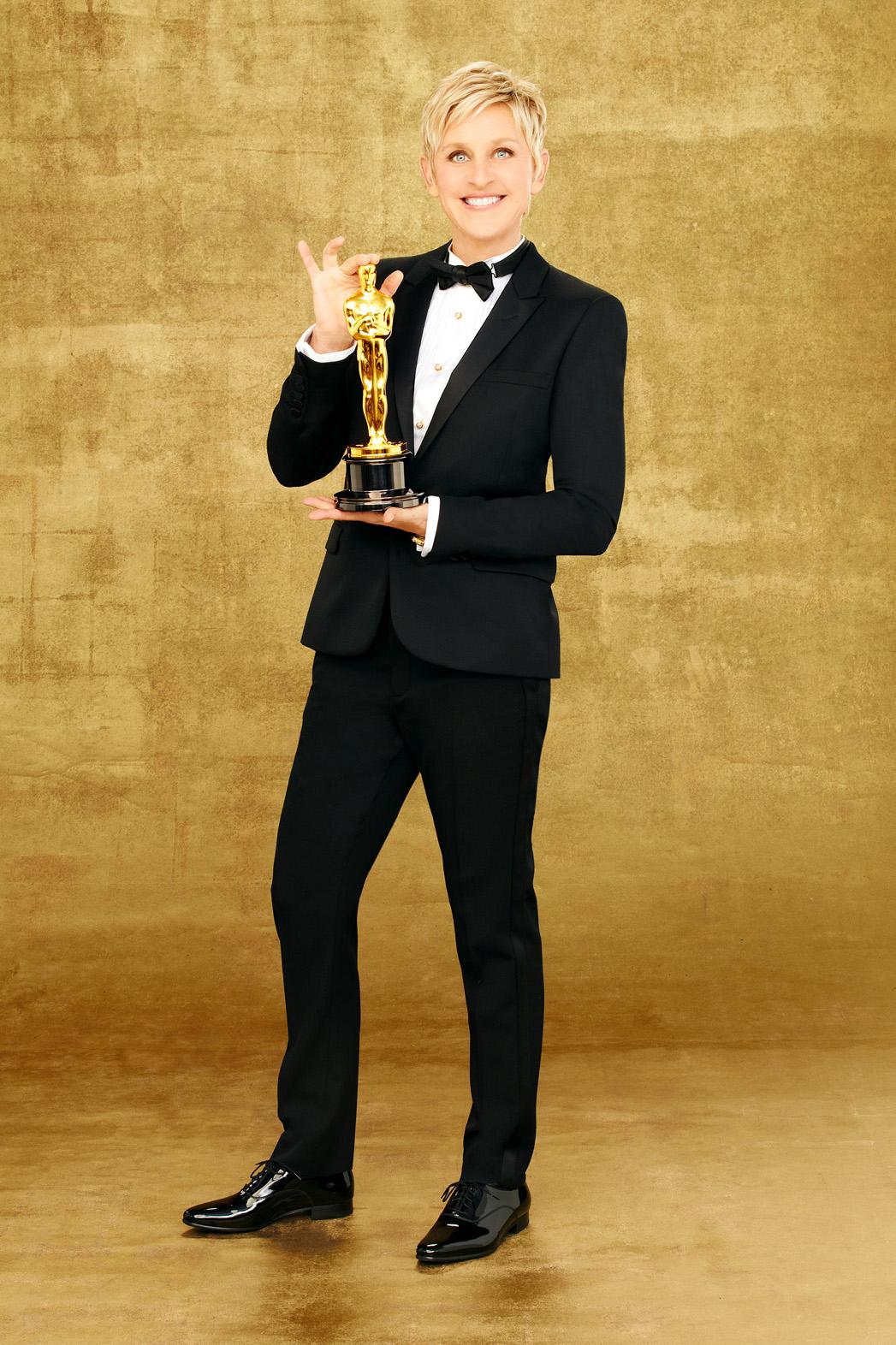 Ellen DeGeneres Oscars Host PR 2 - P 2014