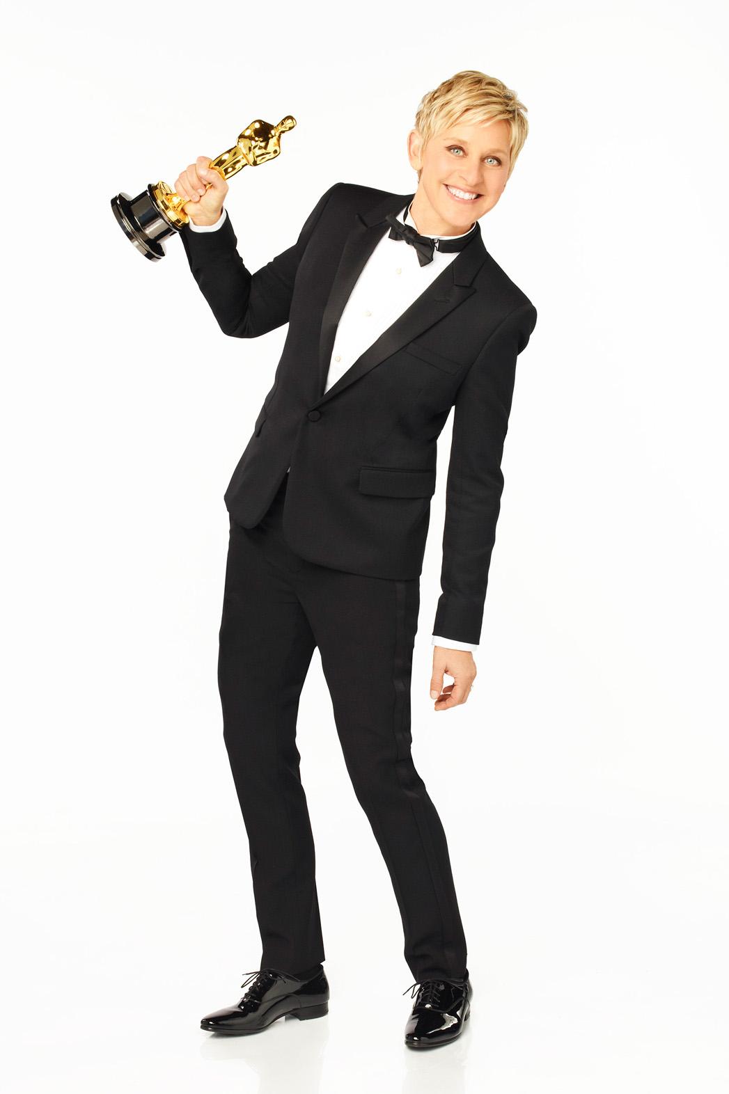 Ellen DeGeneres Oscars Host PR 3 - P 2014