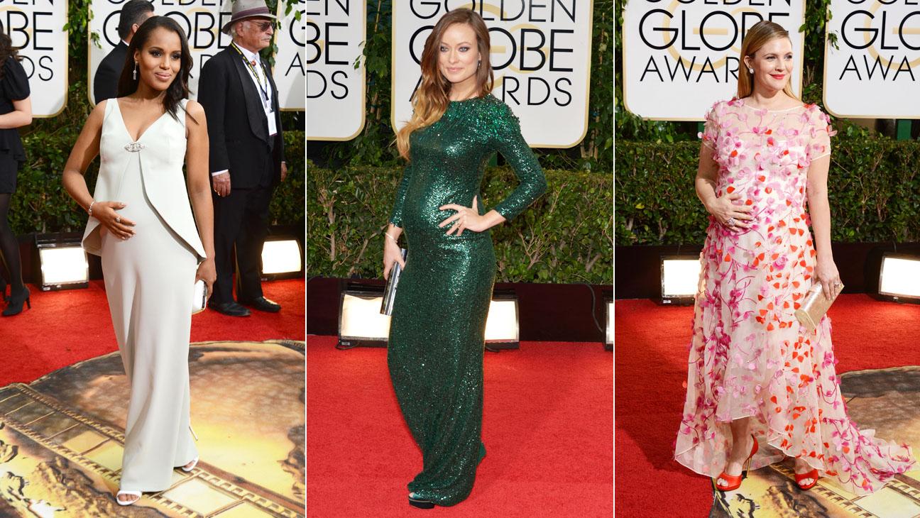 Golden Globes Washington Wilde Barrymore Split - H 2014