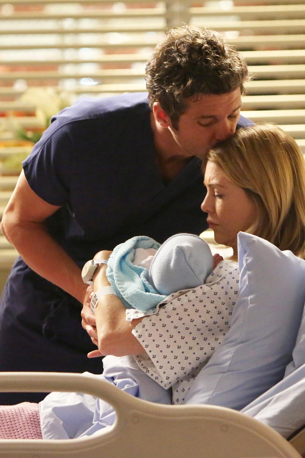 Patrick Dempsey Ellen Pompeo Grey's Anatomy with Baby - P 2014