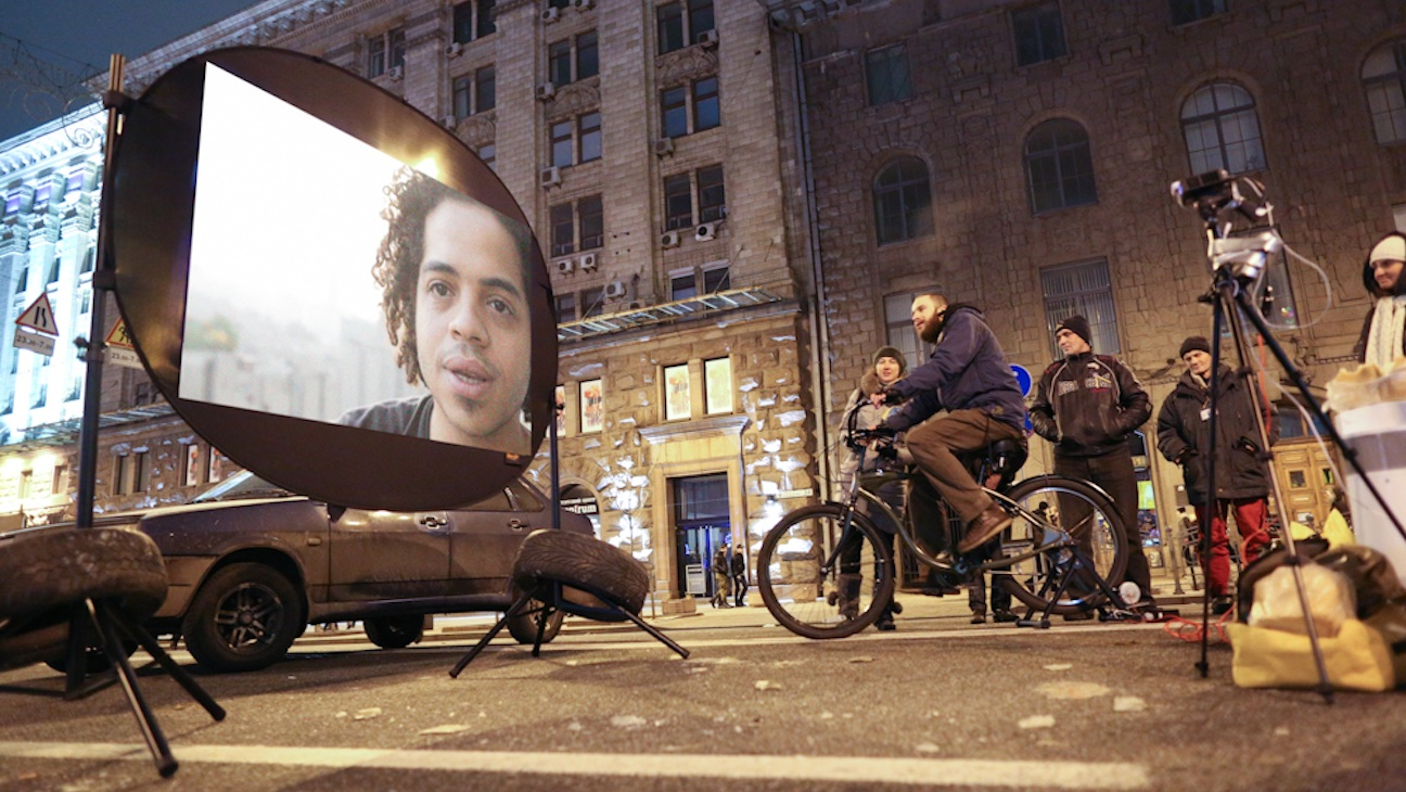 Ukraine Crisis bicycle cinema H