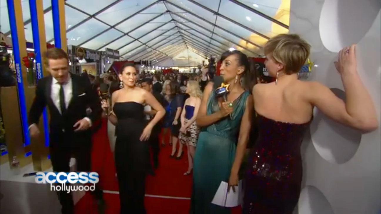 Jennifer Lawrence Damian Lewis SAG Screengrab - H 2014