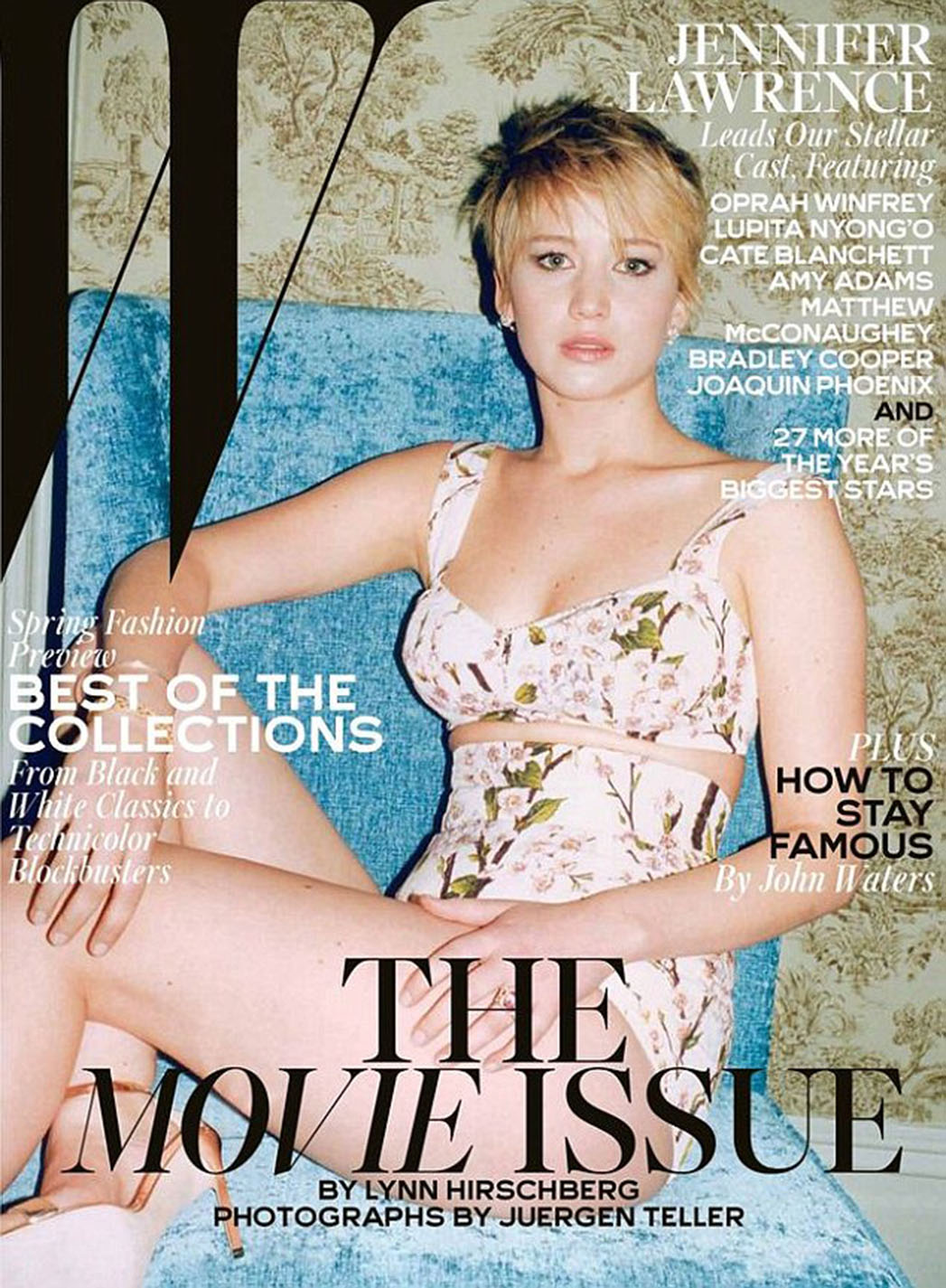 Jennifer Lawrence W Magazine Cover Large - P 2013