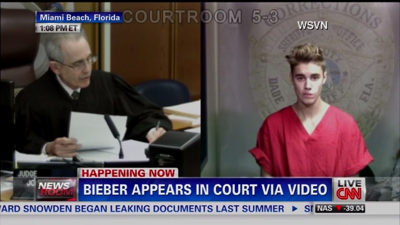 Justin Bieber Arrested For DUI Hearing Screengrab - H 2014