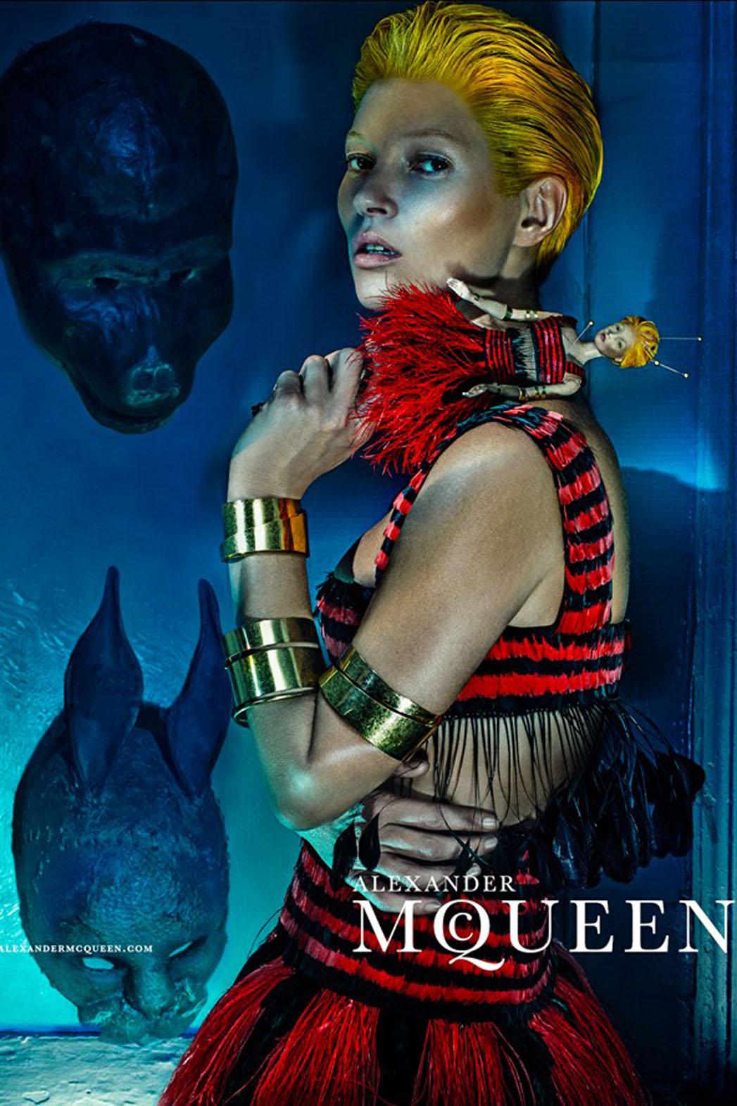 Kate Moss Alexander McQueen Campaign - P 2014