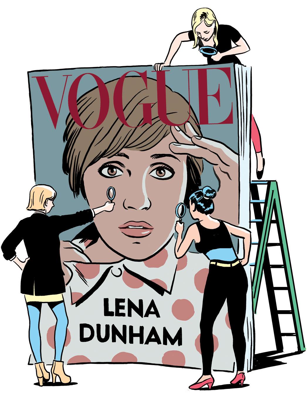 Lena Dunham Vogue Cover - P 2014