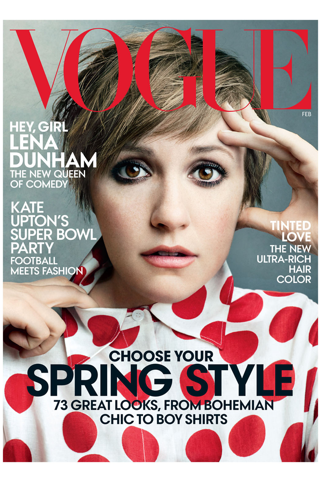 Lena Dunham February Vogue Cover - P 2014
