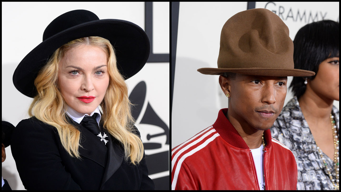 Madonna Pharrell Grammy Awards - H 2014
