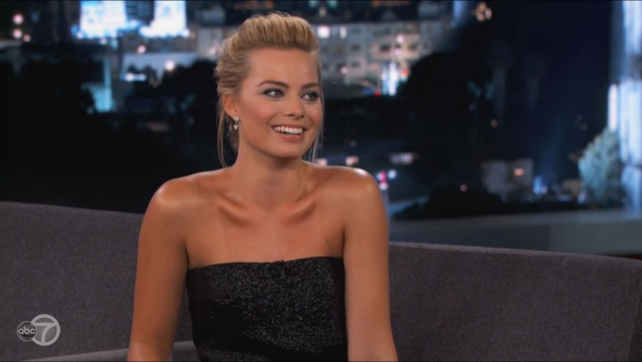 Margot Robbie Jimmy Kimmel - H 2014