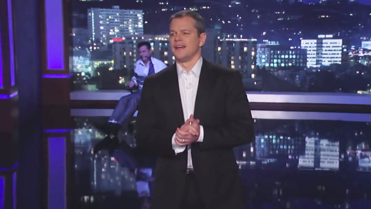 Matt Damon Hijacks Jimmy Kimmel Live! - H 2014