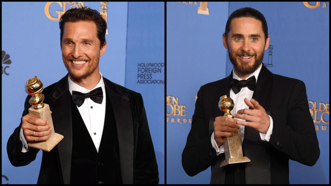 Matthew McConaughey Jared Jeto Golden Globe Awards - H 2014