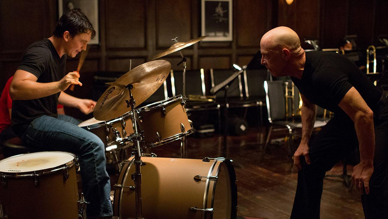 Miles Teller and J.K. Simmons in Whiplash - H 2014