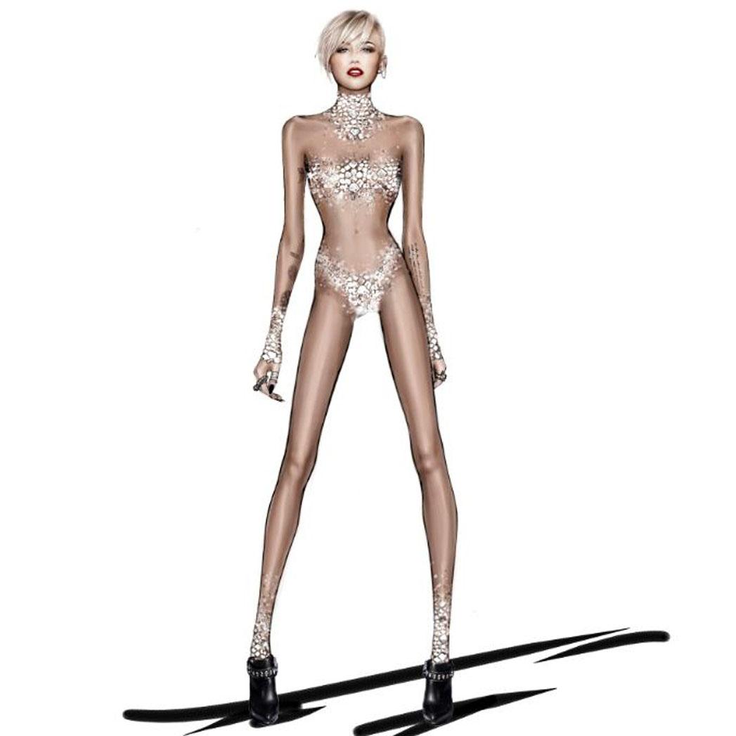 Miley Cyrus Bangers Costume Roberto Cavalli - S 2014