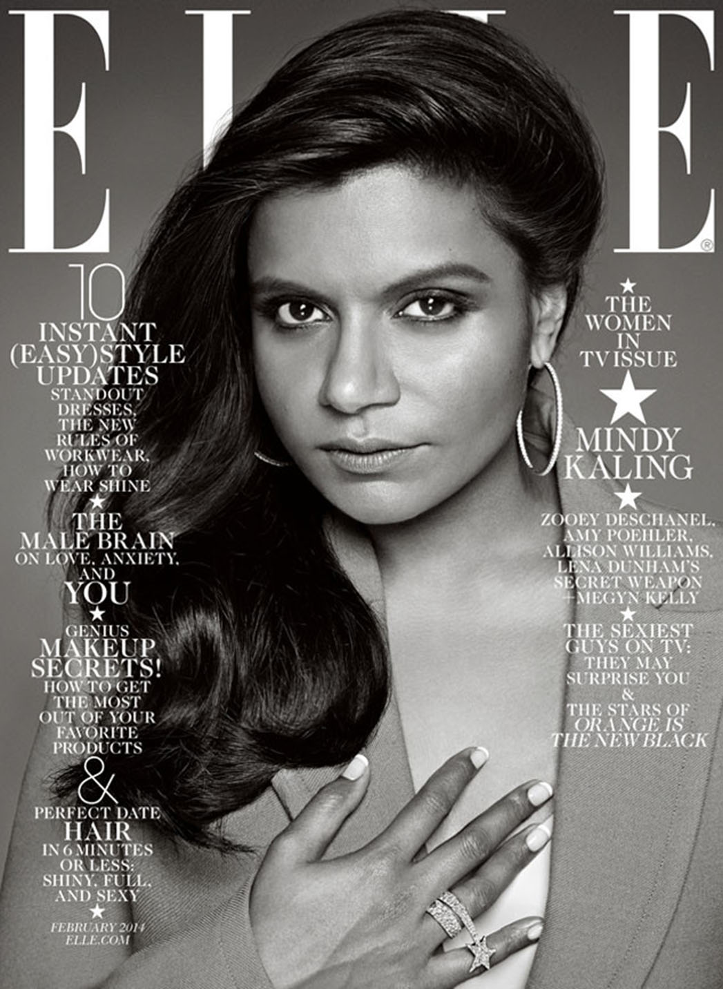 Mindy Kaling Elle Magazine Cover - P 2014