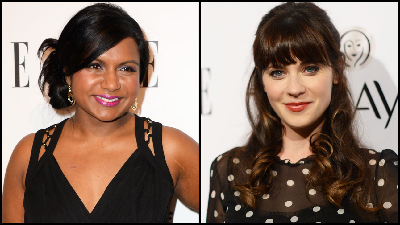 Zooey Deschanel Mindy Kaling Split - H 2014