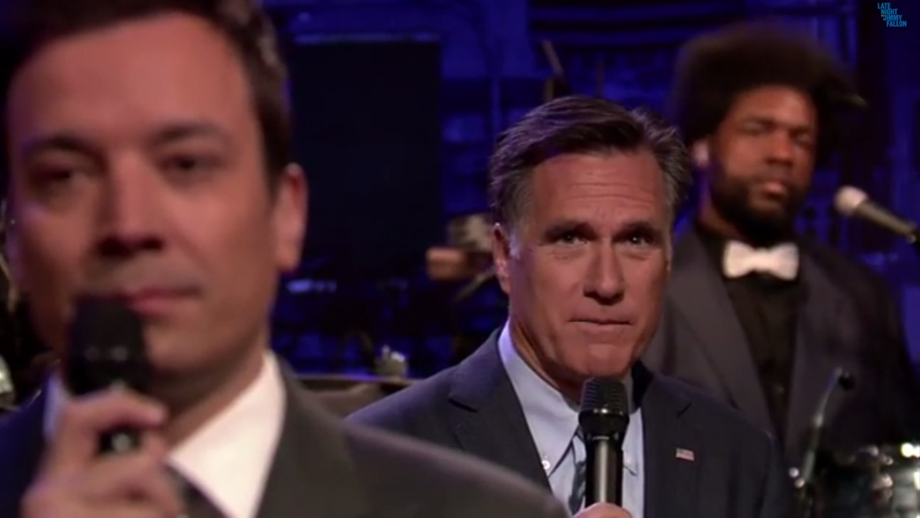 Mitt Romney Jimmy Fallon - 2014