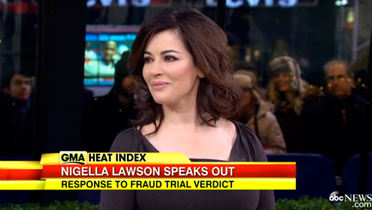 Nigella Lawson on GMA Screengrab - H 2013