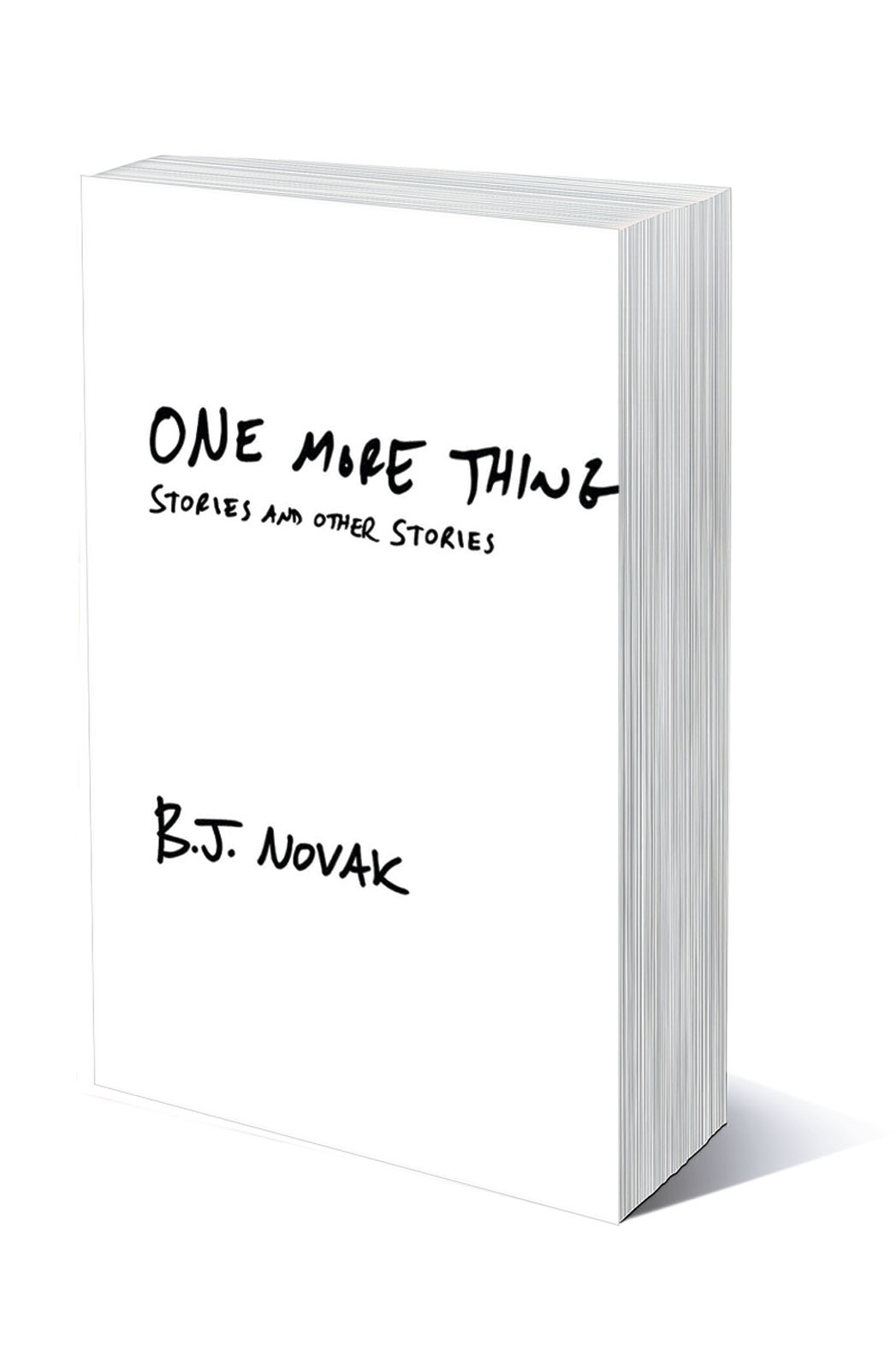 B.J. Novak One More Thing Book Cover - P 2014
