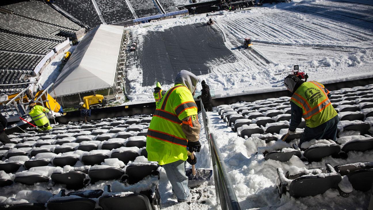 Super Bowl MetLife Stadium Snow - H 2014