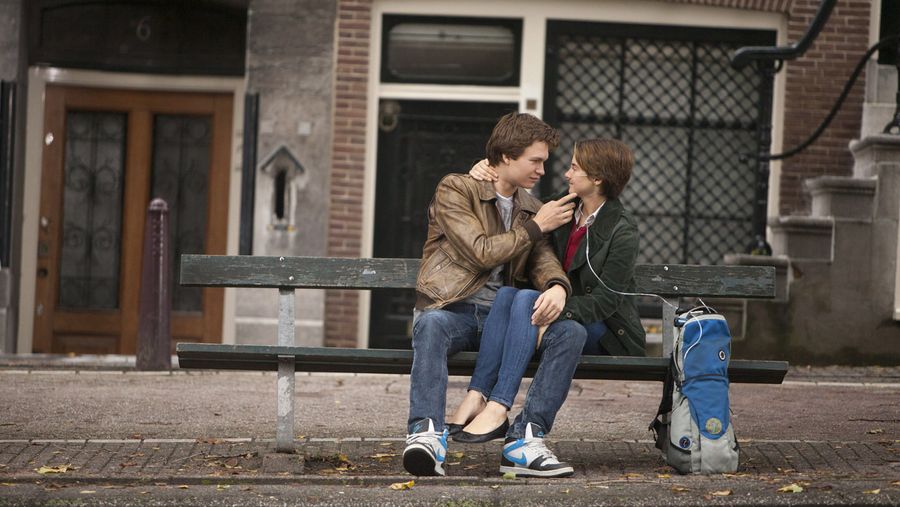 The Fault in Our Stars Woodley Elgort on Bench - H 2014