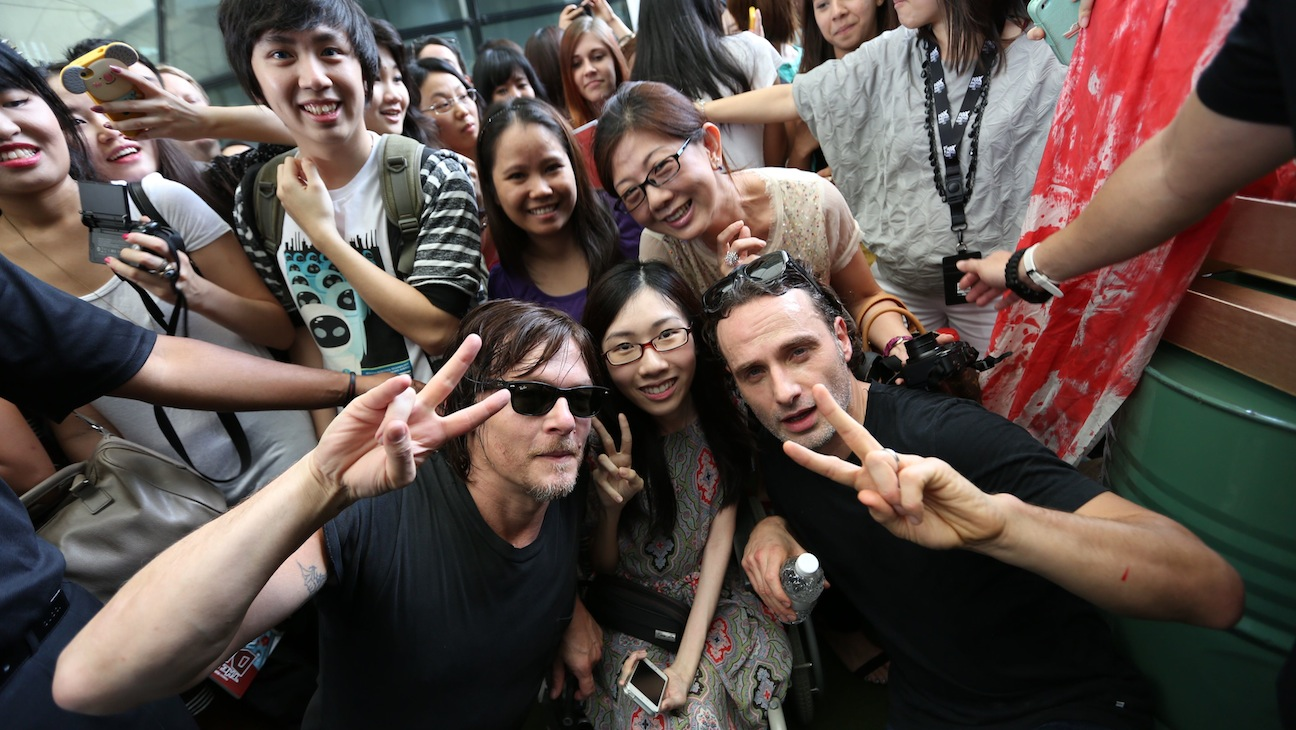Walking Dead Stars Andrew Lincoln and Norman Reedus in Singapore H