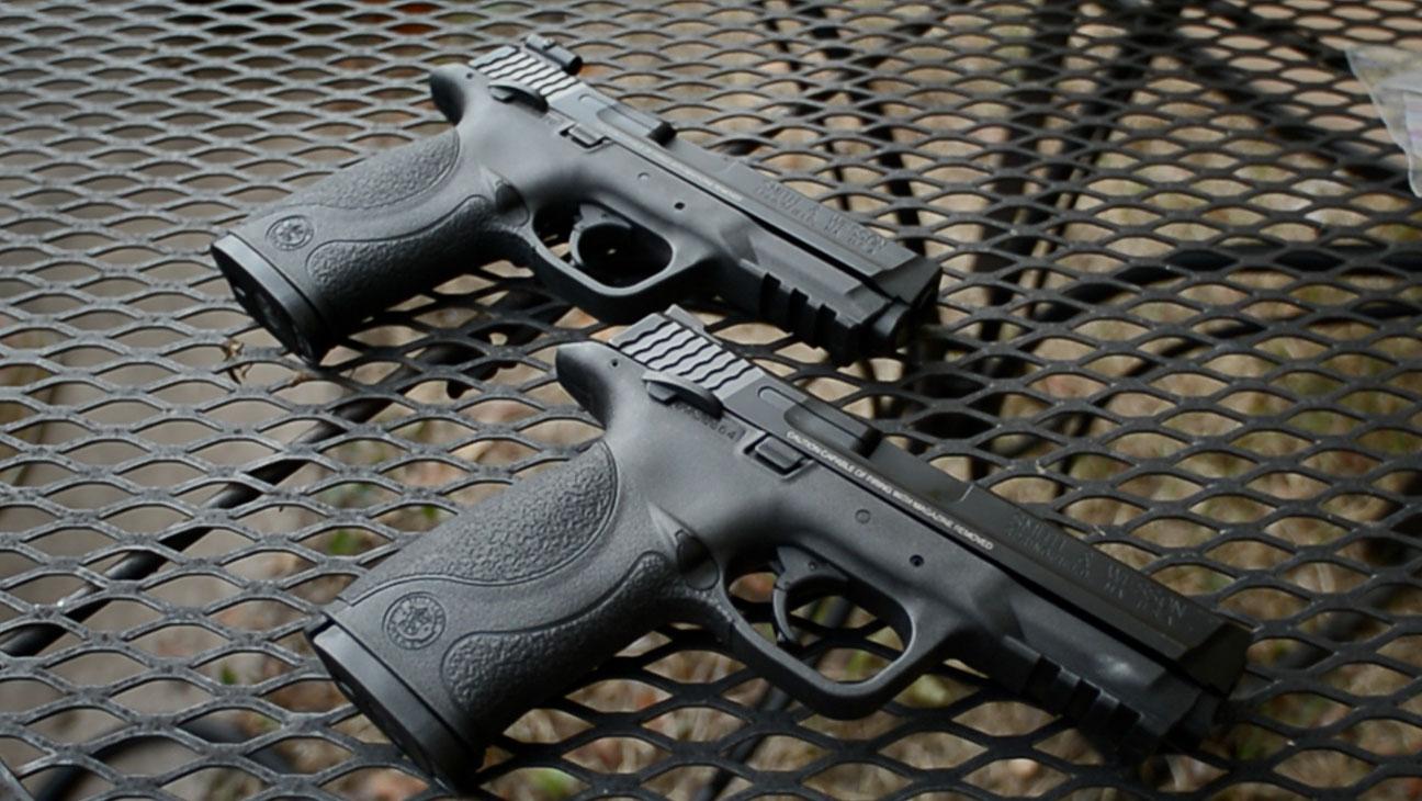 Tim and Susan Have Matching Handguns Film Still - H 2014