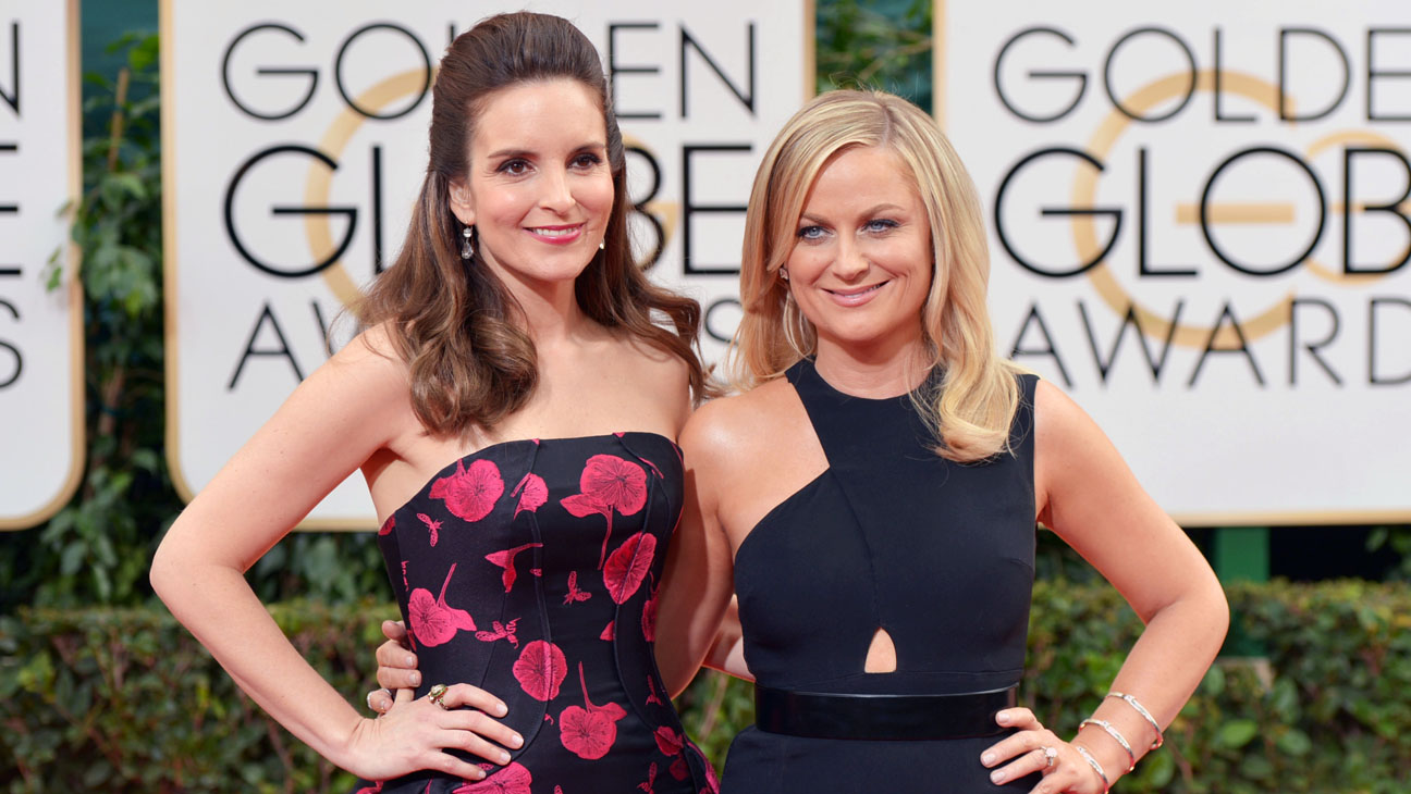 Tina Fey Amy Poehler Red Carpet - H 2014