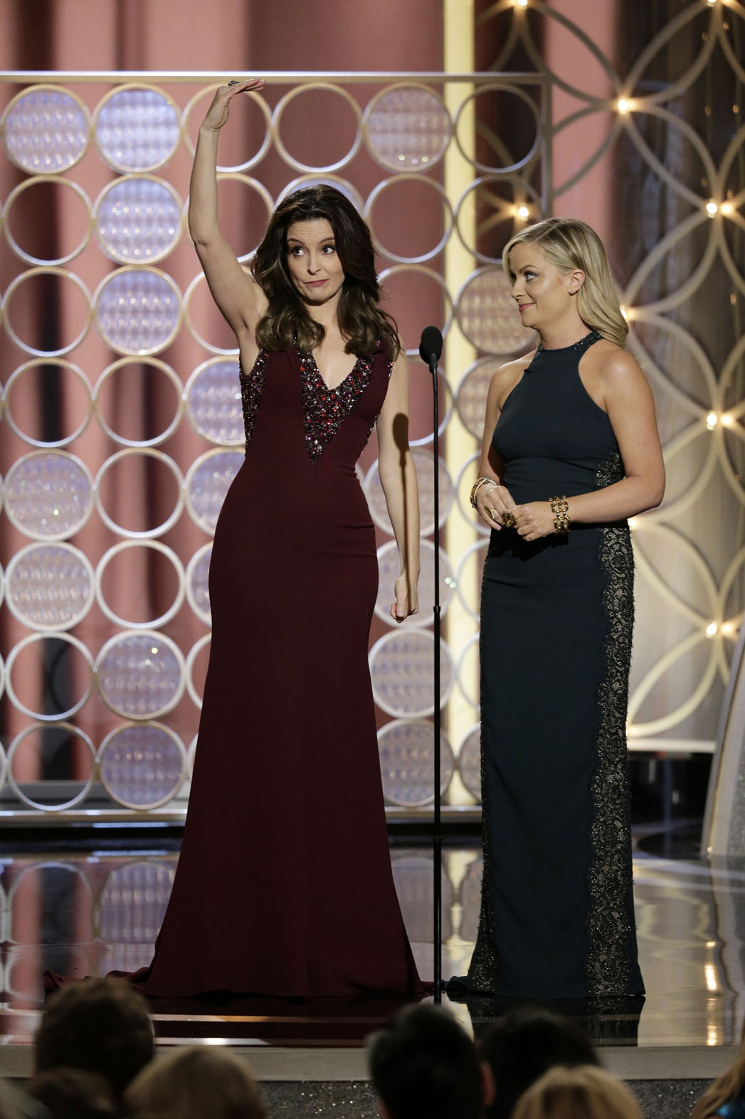 Tina Fey, Amy Poehler Riff on the Nominees in Their Monologue