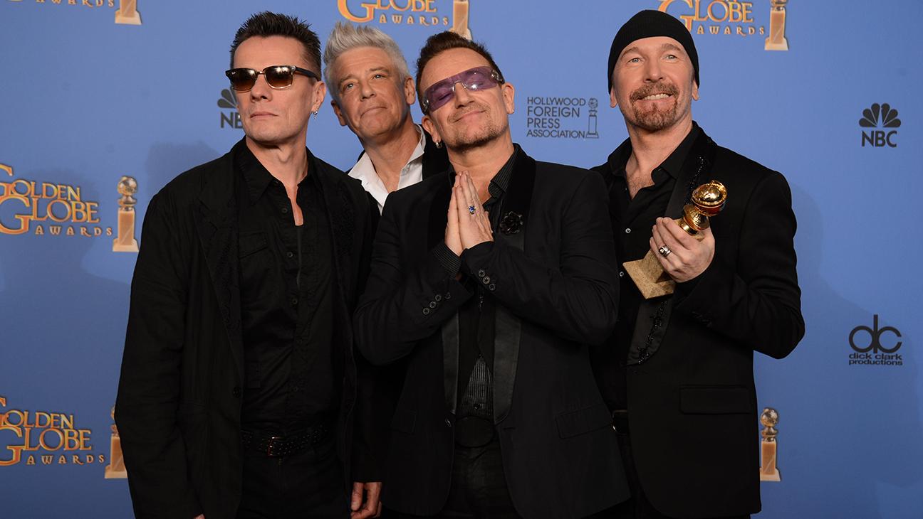 U2 Golden Globes award 2014 L
