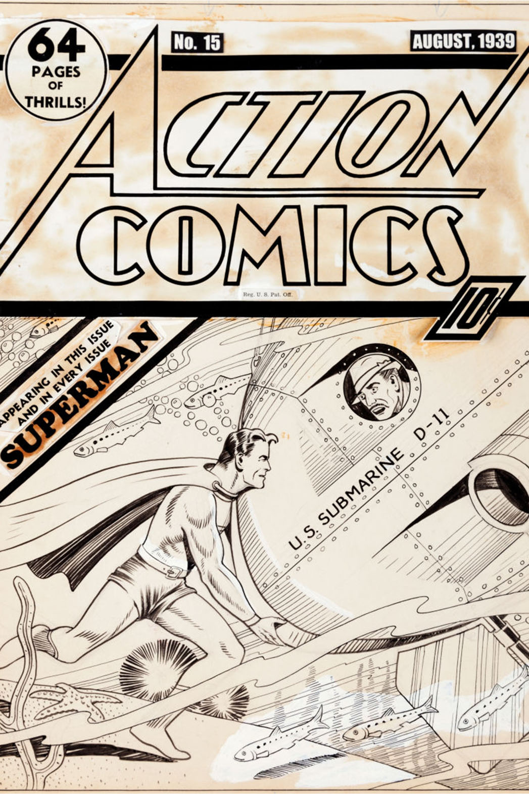 Action Comics Auction Cover - P 2014