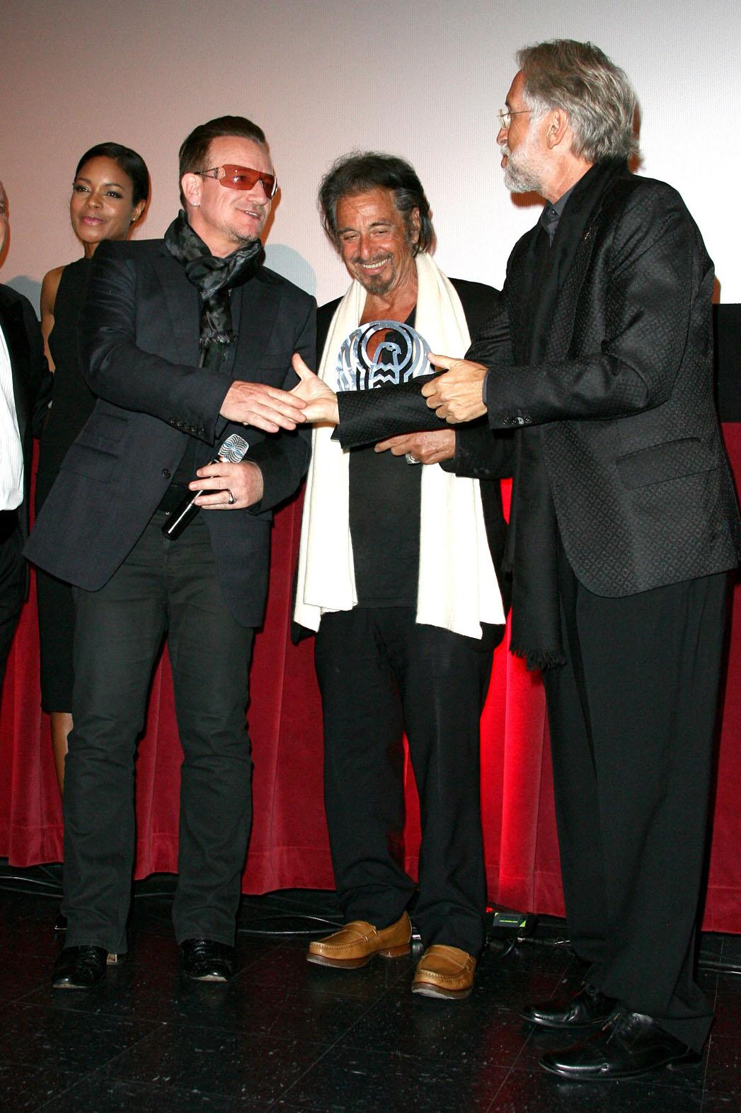 Bono Pacino Portnow LA Italia Awards - P 2014