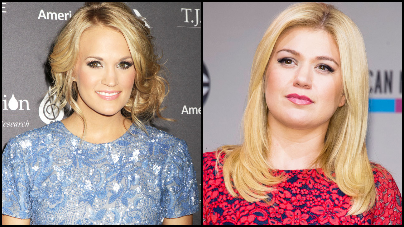 Carrie Underwood Kelly Clarkson Split - H 2014