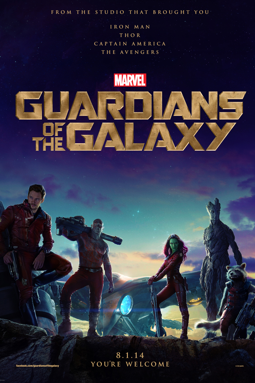 Guardians of the Galaxy Poster - P 2014