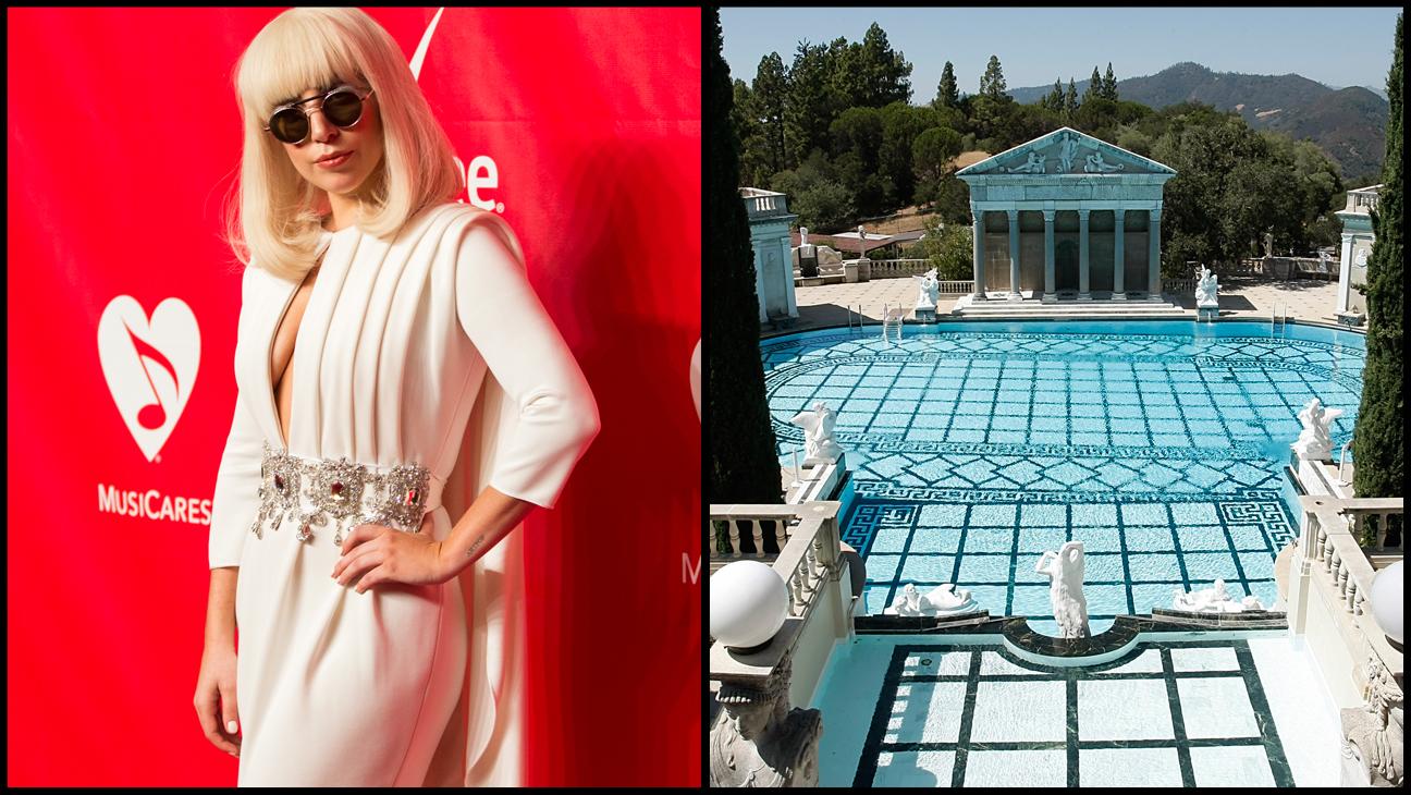 Lady Gaga Hearst Castle Split - H 2014
