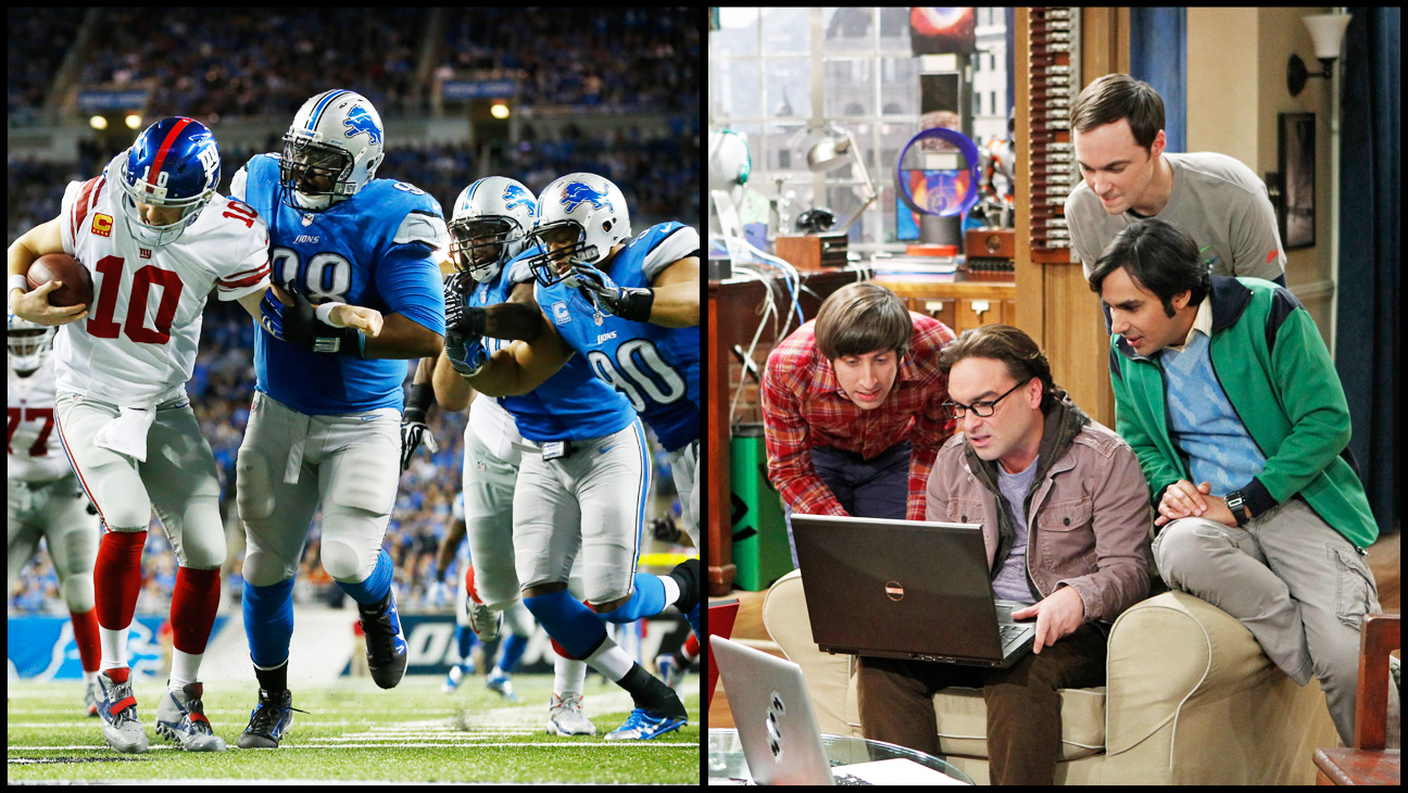 NFL The Big Bang Theory Split - H 2014