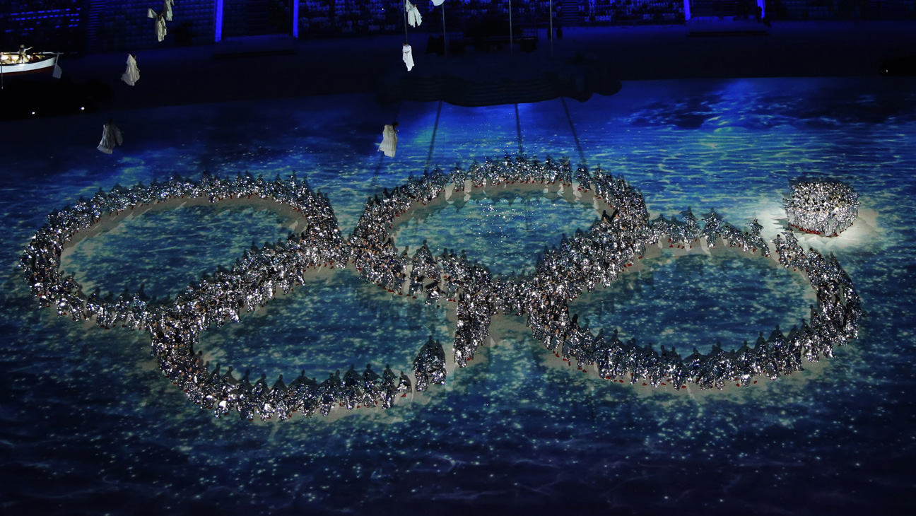 Sochi Closing Ceremony Olympic Rings Malfunction - H 2014