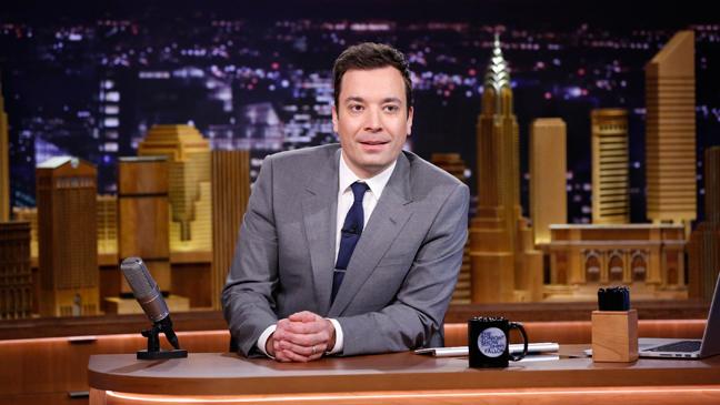 Tonight Show Starring Jimmy Fallon Gold Desk - H 2014