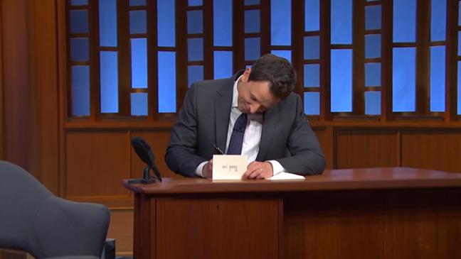 Seth Meyers Late Night Thank You Notes Screenshot - H 2014