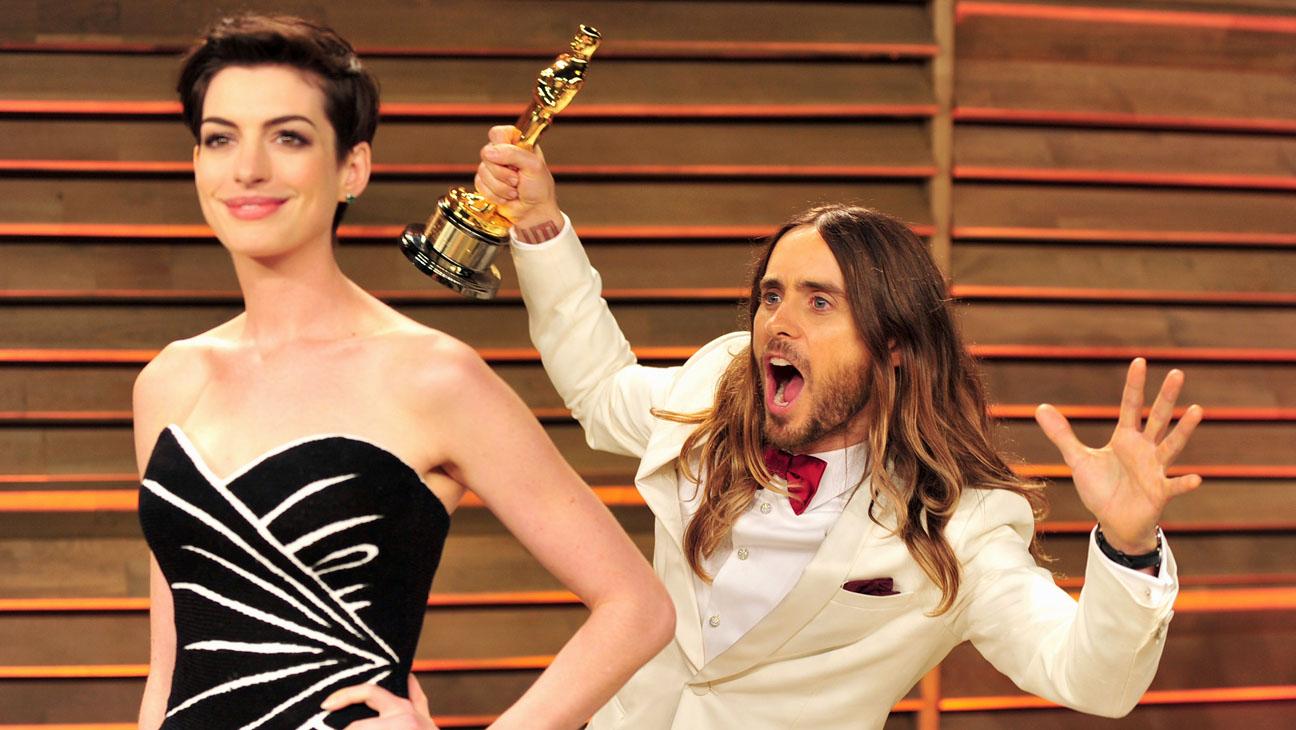 Anne Hathaway Jared Leto Oscars Vanity Fair - H 2014