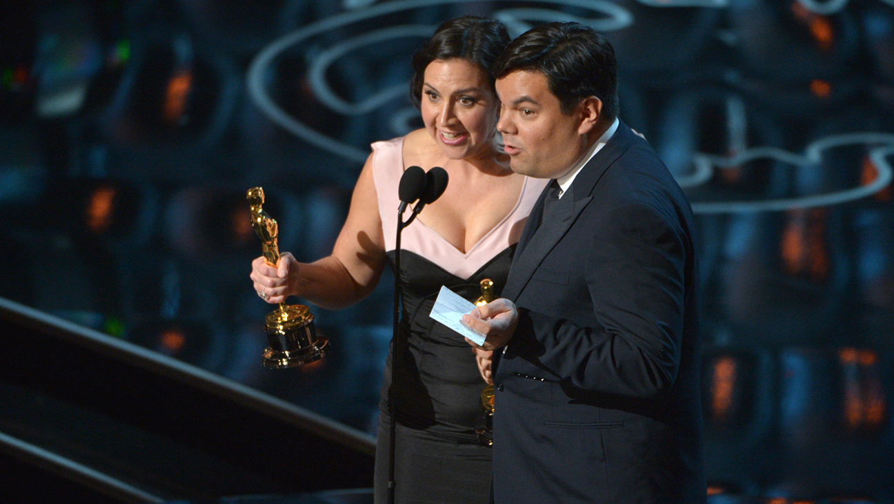 Bobby Lopez Kristen Oscars 2014 L