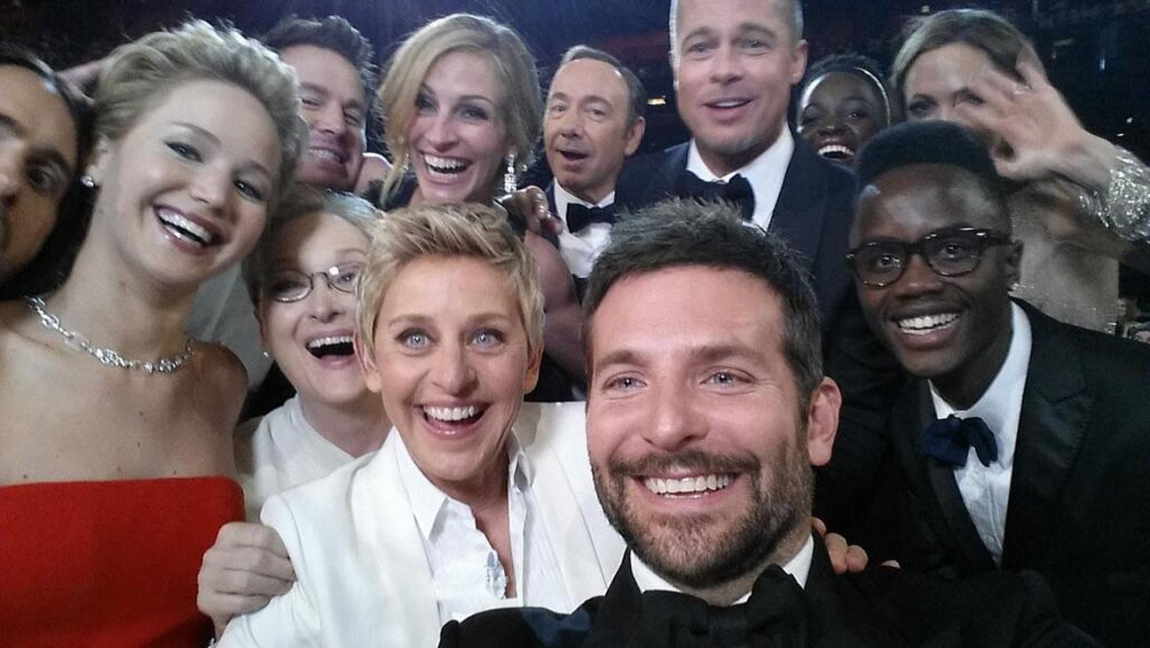 Ellen Group Selfie at Oscars - H 2014