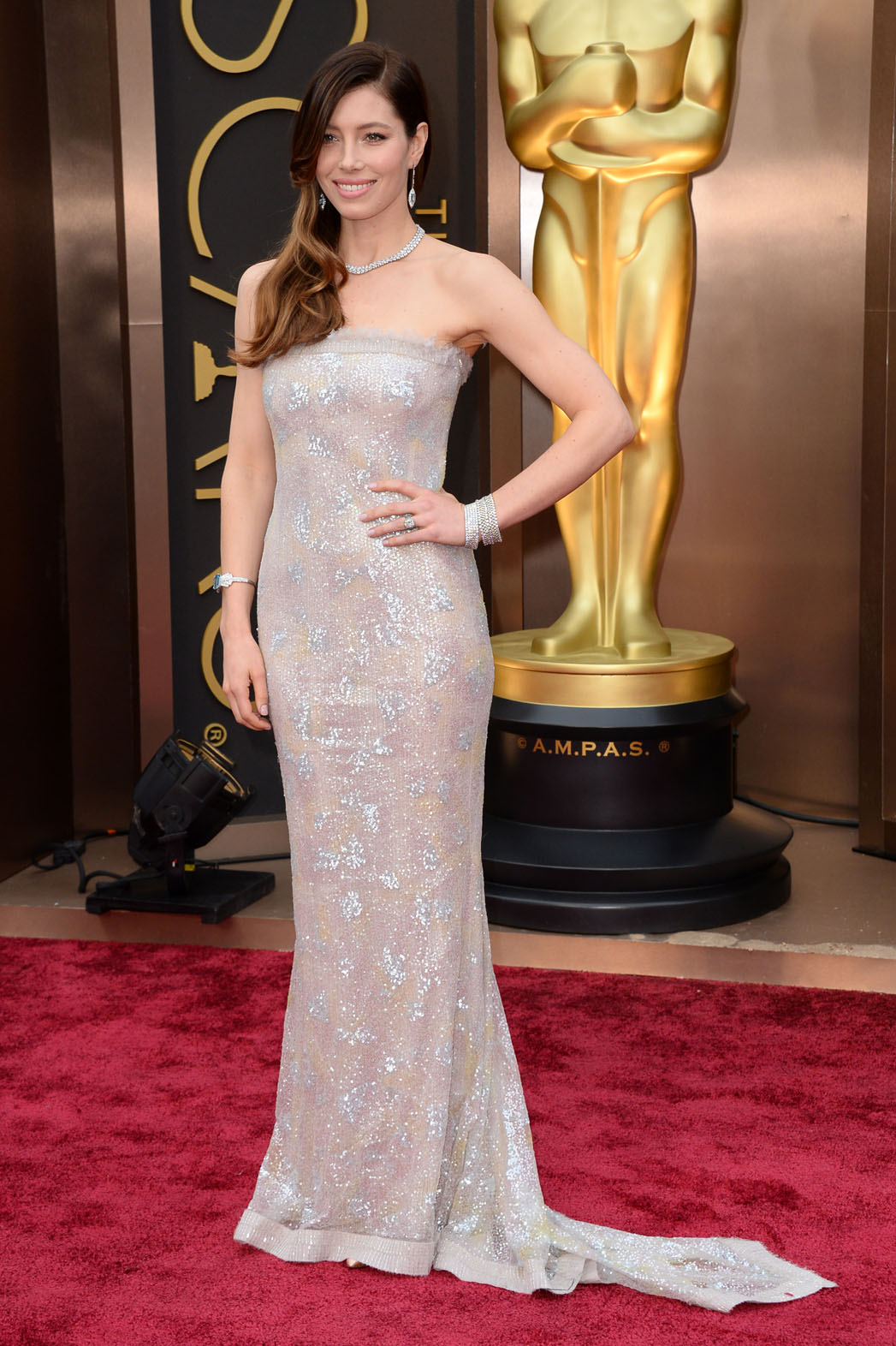 Jessica Biel Oscars Red Carpet - P 2014
