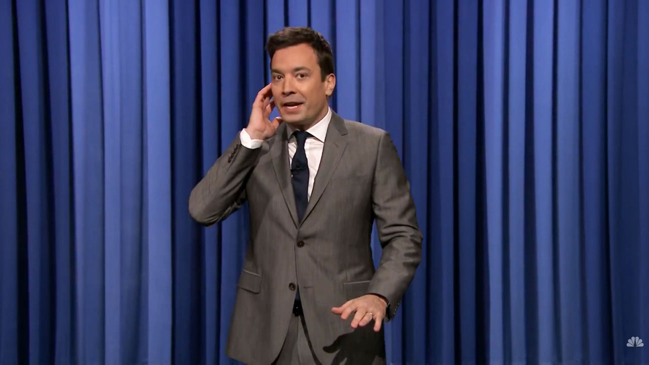 The Tonight Show with Jimmy Fallon Earthquake Monologue - H 2014