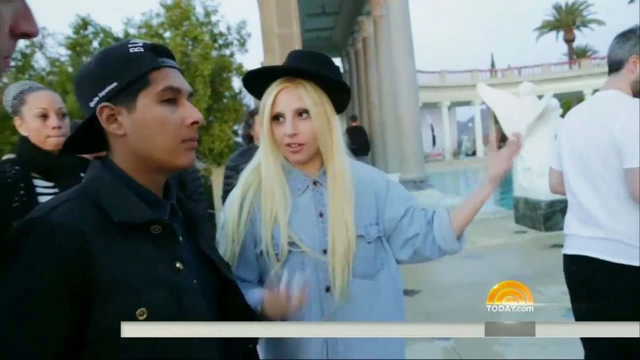 Lady Gaga Directing at Hearst Castle - H 2014