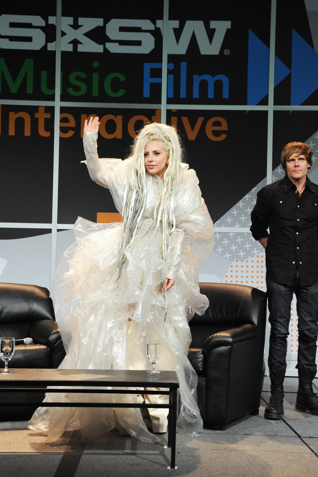 Lady Gaga SXSW Keynote Plastic Dress - P 2014