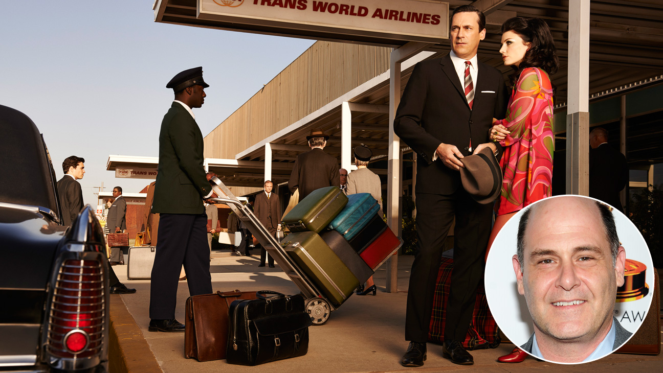 Mad Men S7 Key Art Don Draper Megan Draper Matthew Weiner Inset - H 2014