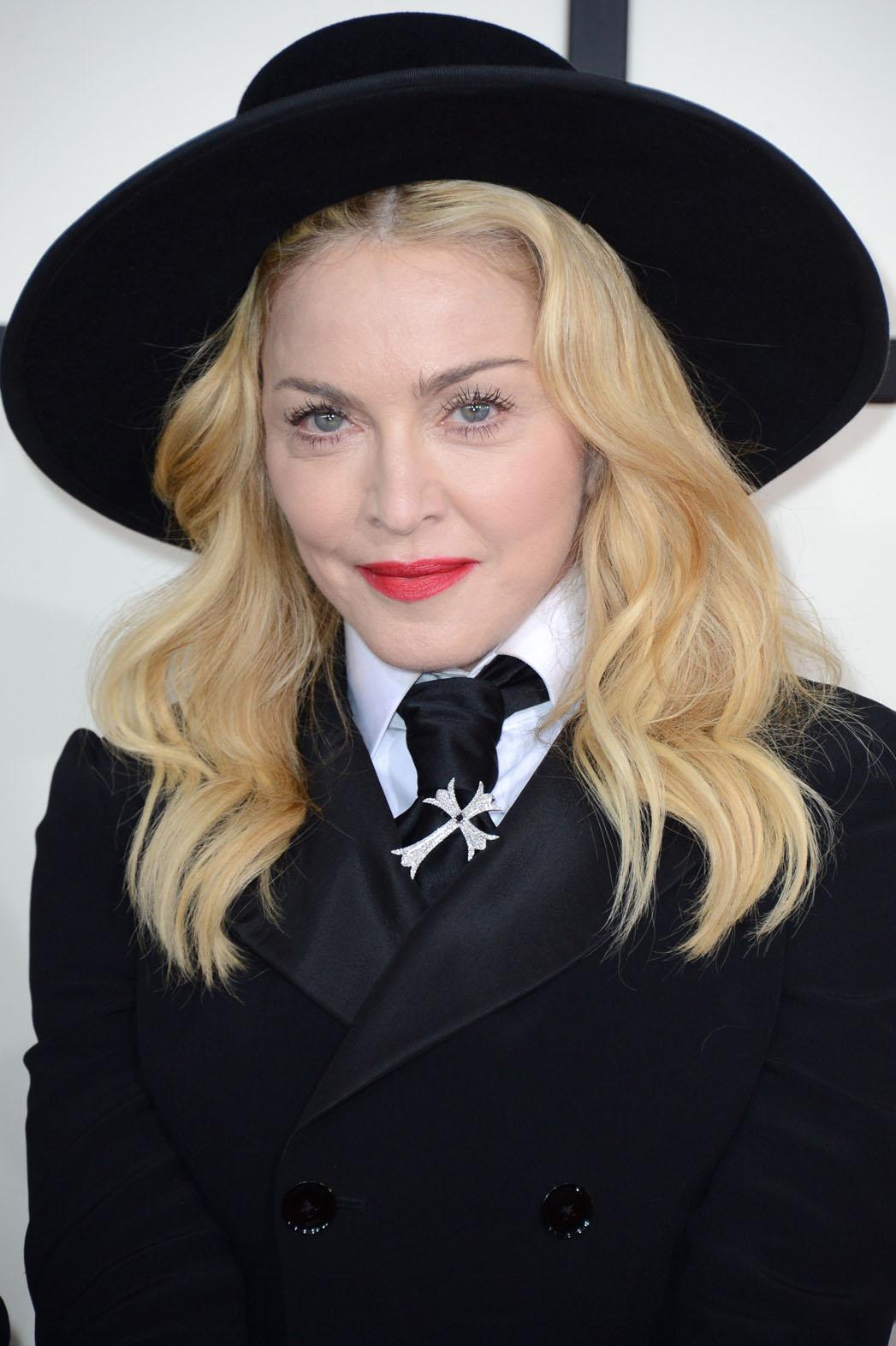Madonna Grammys Headshot - P 2014