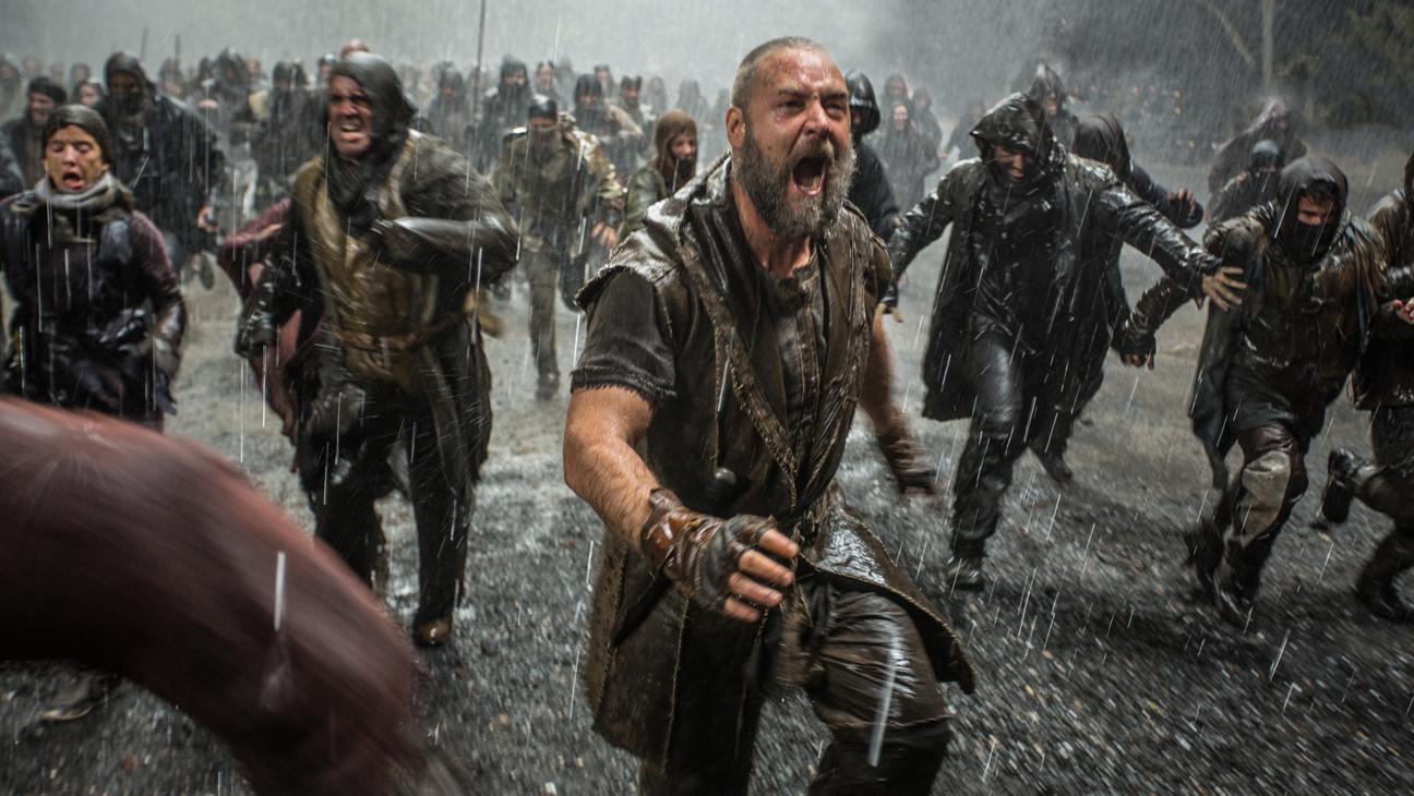 Noah Film Still Crowe Running in Rain - H 2014