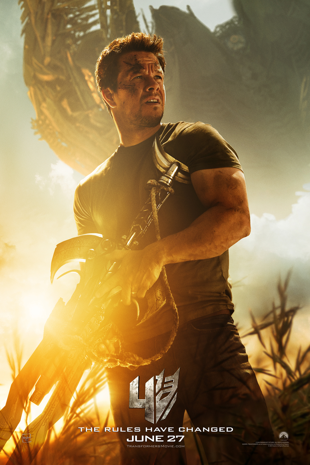 Transformers Age of Extinction Character Poster Wahlberg - P 2014